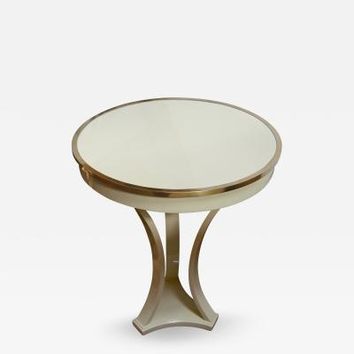 Andr Arbus Gueridon Pedestal 12with Tripod Base Lacquered in Ivory by Andr Arbus