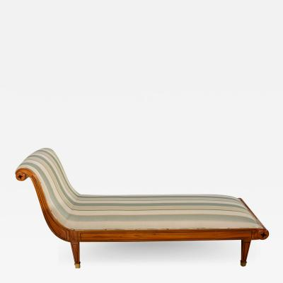Andr Arbus Ine Andre Arbus Inlaid Sycamore and Ebony Chaise France