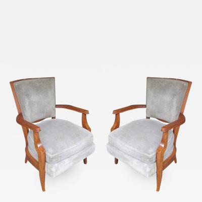 Andr Arbus Pair of French 1940s Armchairs in the Andre Arbus Manner