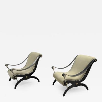 Andr Arbus Style of Andre Arbus Pair of Neo Classic Lounge Chairs