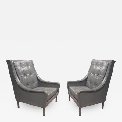Andr Arbus Two Pairs of Very Rare Club Chairs from the SS France by Andre Arbus
