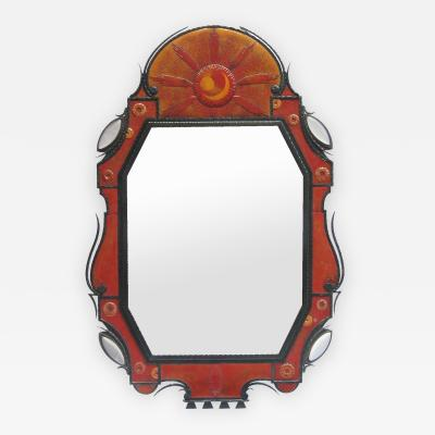 Andr Dubreuil Rare and Unusual Mirror Designed by Andr Dubreuil