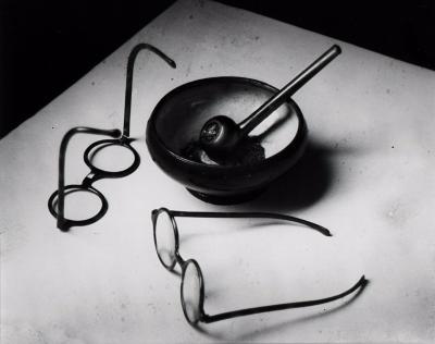 Andr Kert sz Mondrians Glasses and Pipe Paris France 1926