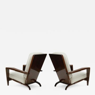 Andr Sornay Andre Sornay pair of comfy lounge chairs
