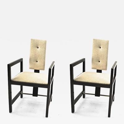 Andr Sornay Andre Sornay pair of modernist arm chairs