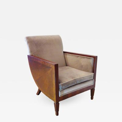 Andr Sornay French Art Deco Mahogany Walnut and Rosewood Bergere