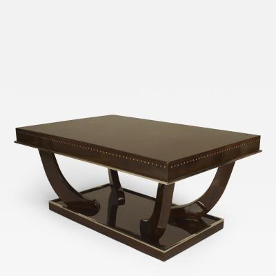 Andr Sornay French Art Deco Style Rosewood Rectangular Coffee Table