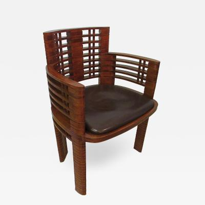 Andr Sornay French Late Art Deco Mahogany Armchair Andre Sornay 1937