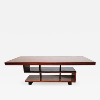 Andr Sornay French Modern Mahogany Greek Key Coffee Table Andre Sornay