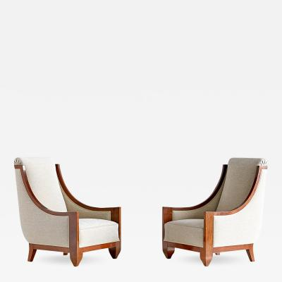 Andr Sornay Important Pair of Andr Sornay Armchairs France Late 1920s