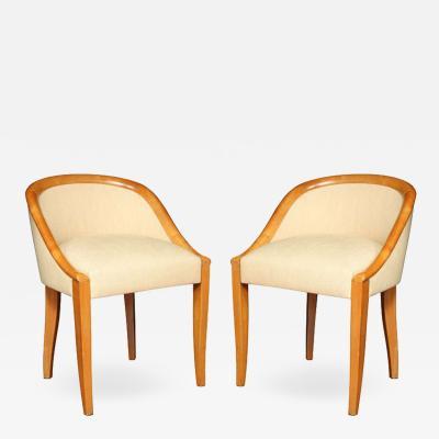 Andre Domin Art Deco Gondole Chairs by DOMINIQUE
