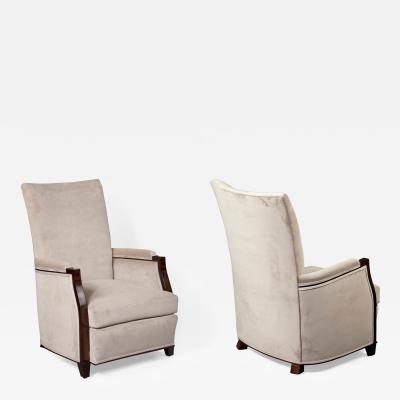 Andre Domin Pair of Lounge Chairs Andre Domin Marcel Genevriere Dominique France 1940s