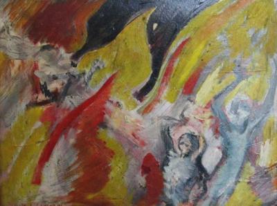 Andre Dunoyer De Segonzac Fleeing the Flames by Andre Dunoyer De Segonzac