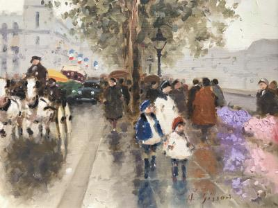 Andre Gisson Flower Market along the Seine