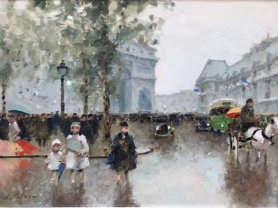 Andre Gisson Strolling Arc de Triomphe
