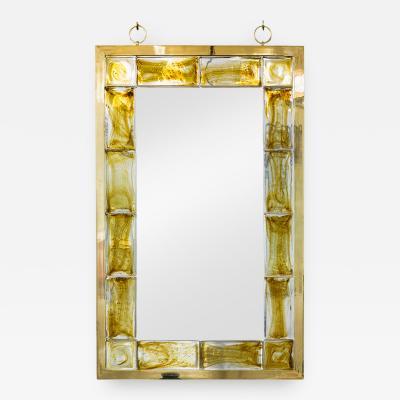 Andre Hayat Andr Hayat Mirror Model New York with Yellow Glass Brick