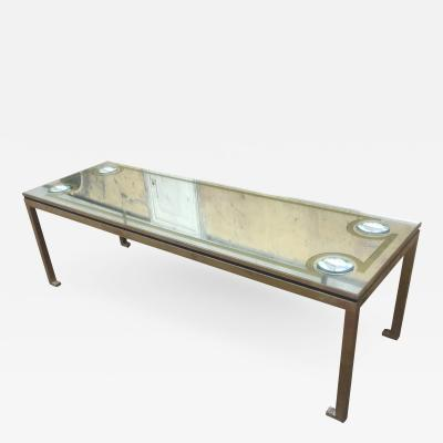 Andre Hayat Andre Hayat Commissioned Long Gold Bronze Patinated Coffee Table