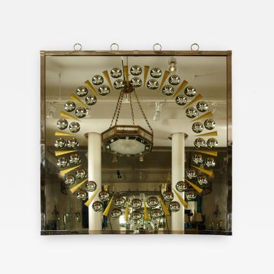 Andre Hayat Andre Hayat Large Square Sun Ray Bubble Mirror