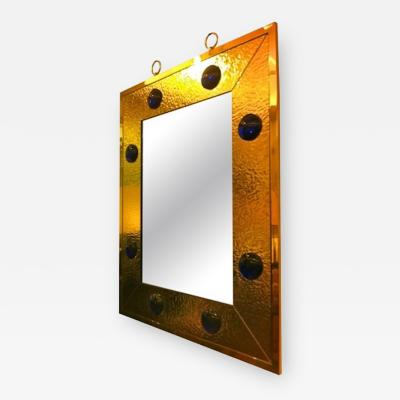 Andre Hayat Andre Hayat Mercury Gold Glass Frame Mirror