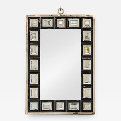 Andre Hayat Andre Hayat Mirror Model Dakota Nickeled Bronze Frame Black Square Mirror