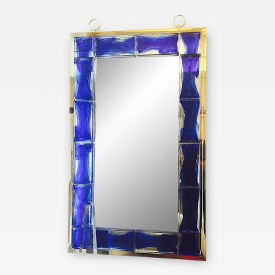 Andre Hayat Andre Hayat Mirror Model New York in Glass Bricks Color Deep Blue