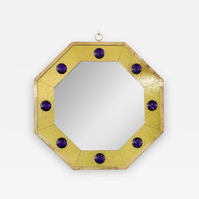 Andre Hayat Andre Hayat Octagonal Mercury Gold Frame Mirror