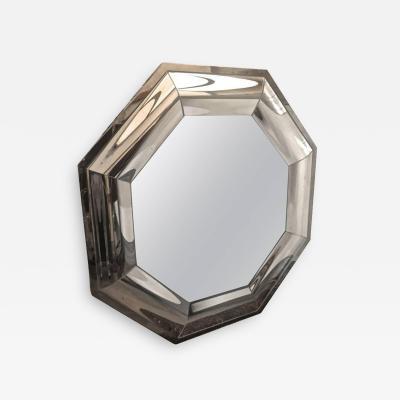 Andre Hayat Andre Hayat Octagonal Steel Mercury Curved Glass Spectacular Exclusive Mirror
