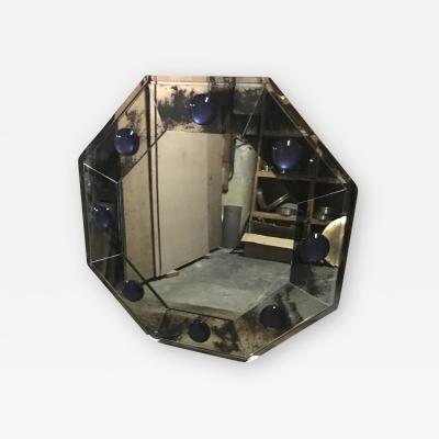 Andre Hayat Andre Hayat Octagonal black Oxydized Mirror Frame with a Silver Frame