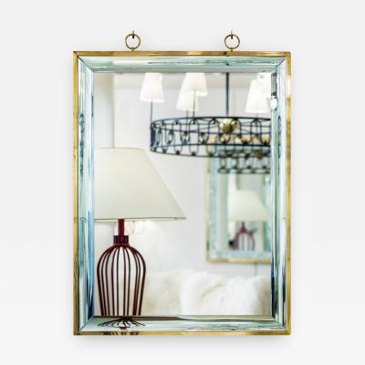 Andre Hayat Andre Hayat Pure Design Mirror with Glass Magnifying Effect Frame