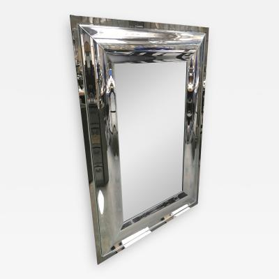 Andre Hayat Andre Hayat Rectangular Curved Silver Mercury Frame Mirror