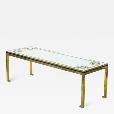 Andre Hayat Andre Hayat exclusive long bronze coffee table with mirrored top lense effect