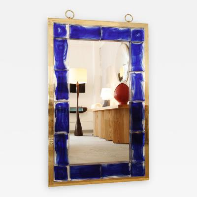Andre Hayat Blue Tiled Mirror by Andre Hayat