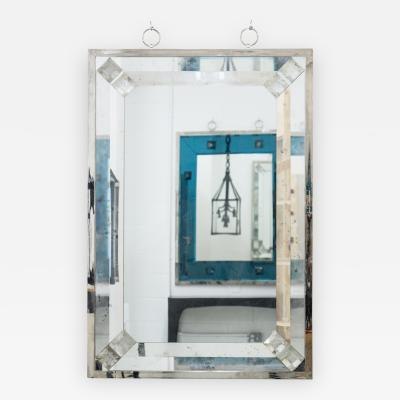 Andre Hayat Contemporary Mirror with Rock Crystal by Andre Hayat