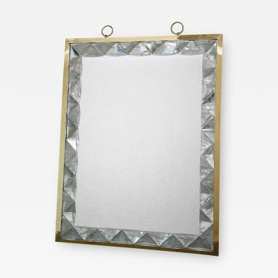 Andre Hayat Rock Crystal Framed Mirror by Andre Hayat