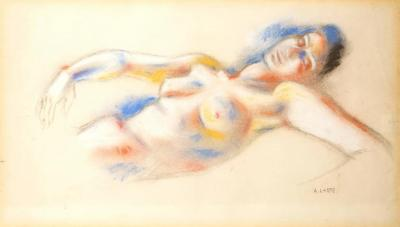 Andre Lhote Andr Lhote Original Signed Pastel Lying Woman Circa 1920