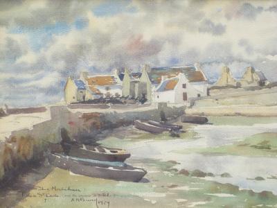 Andre MERIEL BUSSY Maisons de Pecheurs dans lIle de St Cado a Morbihan