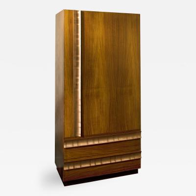 Andre Sornay Armoire Mahogany with Cedar Lined Interior and Copper Hardware
