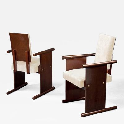 Andre Sornay Pair of Armchairs by Andr Sornay 1902 2000 France Lyon ca 1935