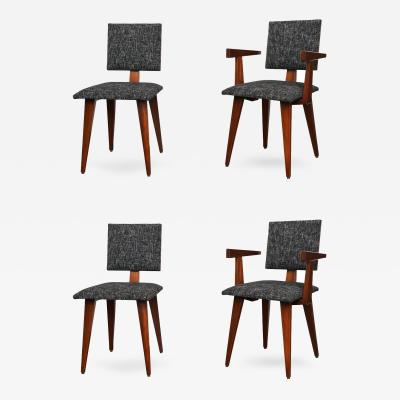 Andre Sornay Set of Four Dining Chairs by Andre Sornay