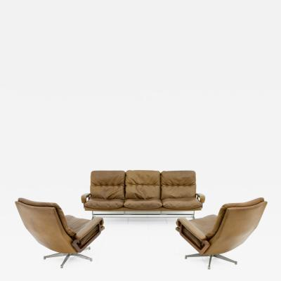 Andre Vandenbeuck Leather Seating Group King by Andr Vandenbeuck For Str ssle Switzerland 1965