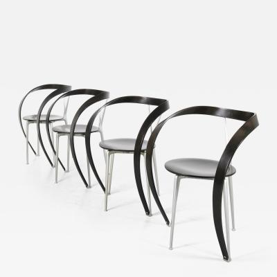 Andrea Branzi Set of 4 Andrea Branzi Revers Chairs for Cassina Italy 1990