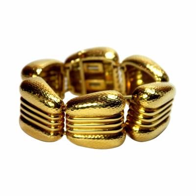 Andrew Clunn Andrew Clunn Gold Hammered Finished Bracelet