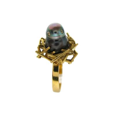 Andrew Grima Andrew Grima Pearl and Diamond Chick Ring
