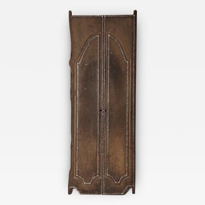 Andrianna Shamaris ANTIQUE TEMPLE DOOR WITH SHELL INLAY
