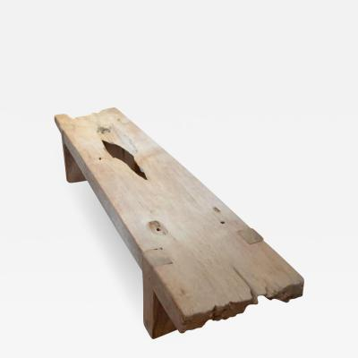 Andrianna Shamaris Eroded Teak Bench or Coffee Table