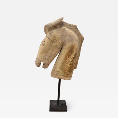 Andrianna Shamaris Hand Carved Teak Horse Sculpture