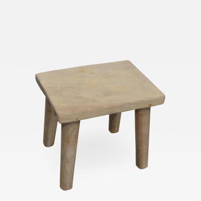 Andrianna Shamaris RECLAIMED BLEACHED TEAK STOOL OR SIDE TABLE