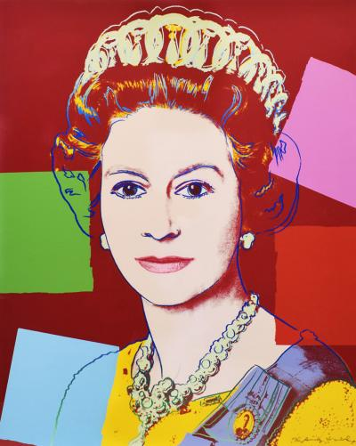 Andy Warhol Andy Warhol Queen Elizabeth II Screenprint 1985 Signed and Numbered