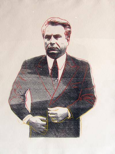 Andy Warhol Andy Warhol Screenprint on HMP Paper John Gotti Unique Print 1 1 1986