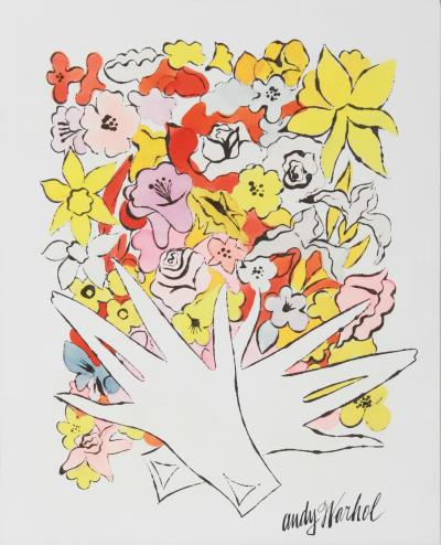 Andy Warhol Flowers and Gloves